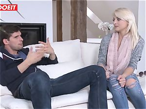 LETSDOEIT - blonde honey Pays Landowner With sizzling bang-out