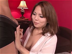 Kanna Itou wants meatpipes to destroy both her smooth-shaven fuck holes