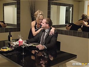 The husband of Brandi enjoy lets her shag a different boy