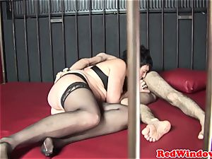 dickblowing dutch cockslut blows client