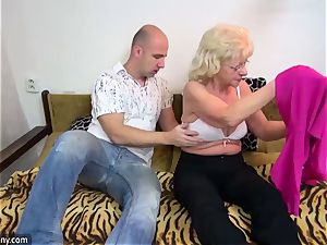 old granny got stripped and banged hard-core way