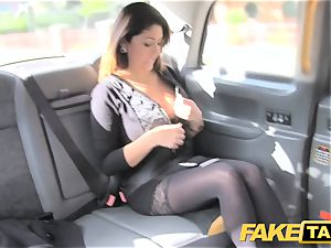 fake taxi immense facial cumshot cum shot for dark haired in stocking