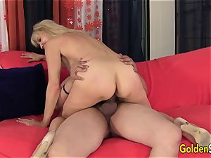 promiscuous grandmother Erica Lauren Gets Her Mature cooter Eaten and plumbed
