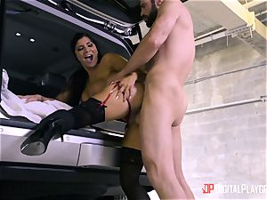 Romi Rain boned in the back of the car