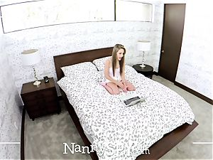 NANNYSPY splooged cam Kimmy Granger plows to keep job