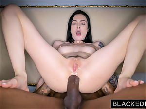 BLACKEDRAW Canadian gf takes phat bbc in her arse