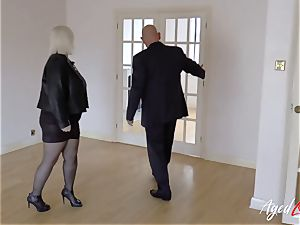 AgedLovE Lacey Starr fucked stiff with Sales Agent
