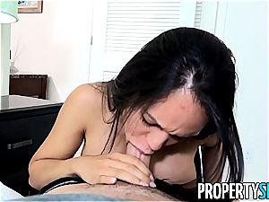 panty sniffing landlord tears up steamy Latina