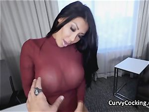 humungous boob sate salami with her incredible curves