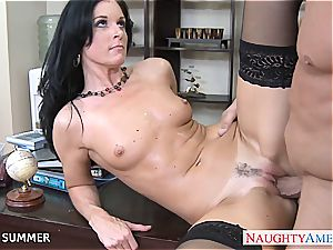 great black-haired India Summer porking