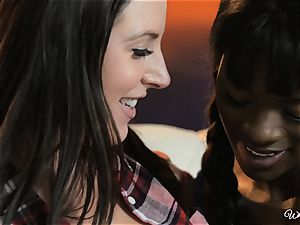 Ana Foxxx and Angela white luvs bi-racial lesbo activity