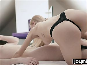 JOYMII- blond taut poon Nancy A meets ample man sausage