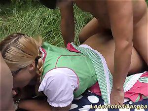 German outdoor group sex fucky-fucky