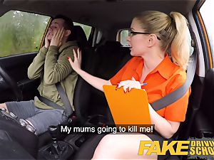 fake Driving college exam failure leads to sizzling romp