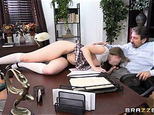 nasty student Lena Paul boinked by headmaster