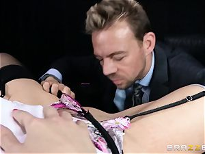 filthy boss is given a fuckable anal invasion desire by Britney Amber