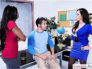 mischievous fellow ravages his professor and stepmom at college