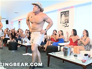 CFNM motel party with large meatpipe masculine Strippers