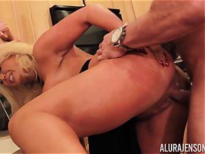 Alura Jenson gets poked by ample muscle dude Zeb Atlas