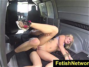 HelplessTeens Mia pleasure button outdoor restrain bondage