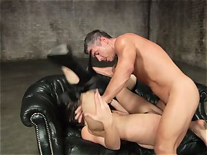 Dani Daniels gets squirted with fat prick cream