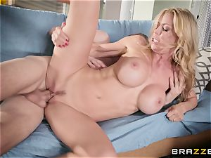 Alexis Fawx takes on a yam-sized monster weenie