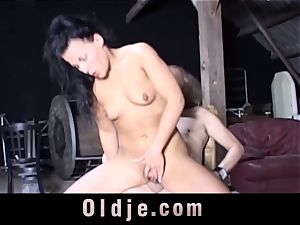 Nataly Lancaster invites aged decrepit to buttfuck shag her