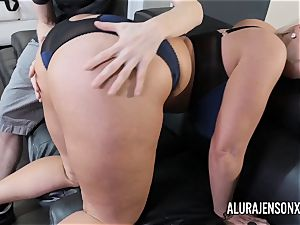 huge-boobed cougar Alura Jenson has her yam-sized booty adored