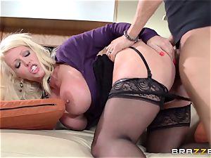 filthy mummy Alura Jensen plumbs her daughters guy