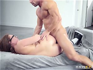 Maddy OReilly drilled rock hard by Johnnys stiff pink cigar