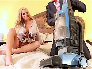 blonde housewife Summer porks fantastic salesman Lily