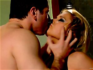 Shyla Stylez takes this hard lollipop deep in her taut donk