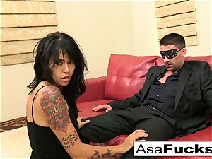 Asa enjoys to have herself some hard-core fun