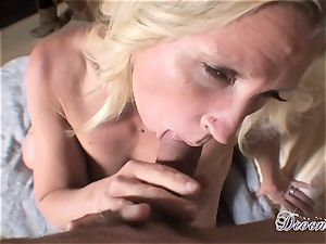 Devon Lee is enjoying her man's whip wedged in her delicious jaws