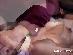 HARMONY VISION jaw-dropping big-chested blondie Afrodity