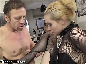 first-timer nubile drains two Rocco Siffredi rectal screwing