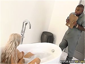 cuckold bf observes Nina Elle gets ravaged by big black cock