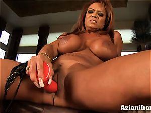 huge titted DD finger smashes herself