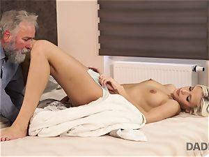 DADDY4K. girl rides elderly gent s joystick in dad pornography movie