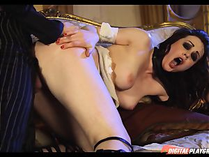 Tina kay has gigantic flow on her marvelous super-cute face from frankenstein