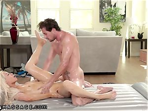 NuruMassage Elsa Jean Uses Tyler Nixon's body