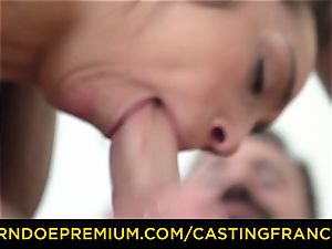 casting FRANCAIS - inexperienced hotty romped and jizz caked
