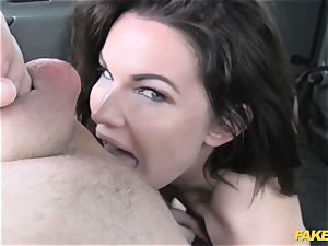 faux cab meaty breasts and cool eyes takes manstick