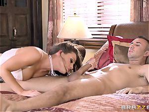 Keiran Lee tucking his shaft deep into Abigail Mac