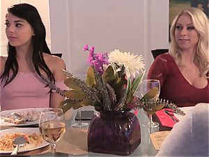 Neighbors wife pt3 beautiful mummy Alexis Fawx messing with draped nubile