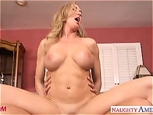 busty blond mummy Brandi enjoy take trouser snake