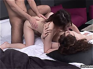inexperienced 3 way with japanese stunners