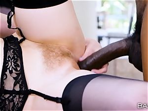 Lily Rader luvs that massive dark-hued spear deep inwards her