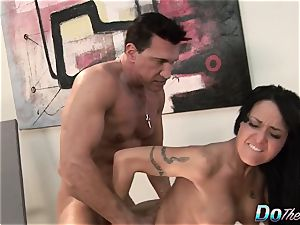 luxurious wife Takes It Up the ass While hubby Looks On