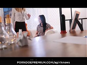 A lady KNOWS - Francys Belle enjoys girl/girl rectal have fun